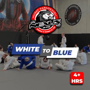 White to blue